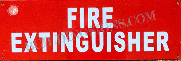 Signage FIRE EXTIGUISHER  (Reflective !!!, Aluminum, red)