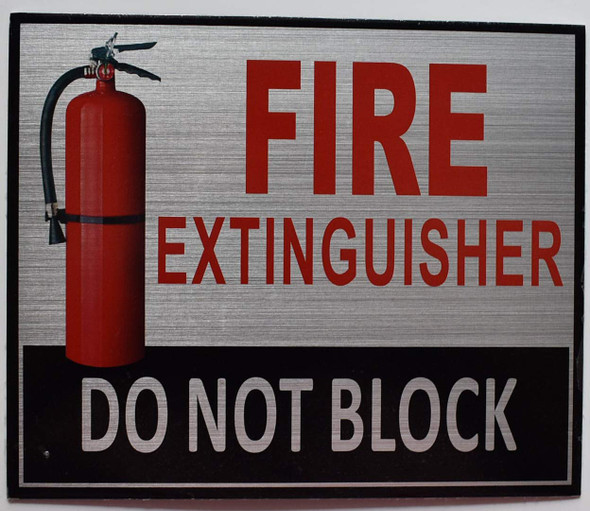 Sign 2 PCS-FIRE Extinguisher DO NOT Block