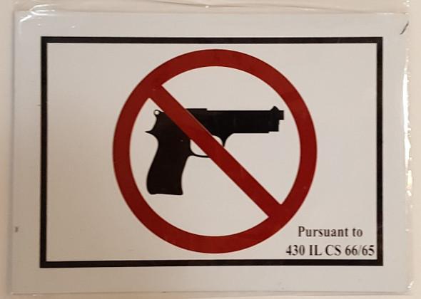 Signage NO Guns