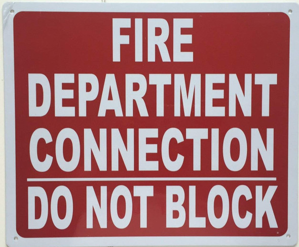 FDC DO NOT Block Sign