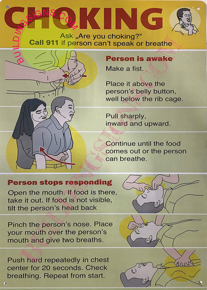 Choking Poster/Choking Sign