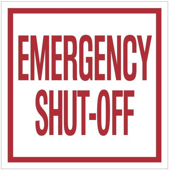 2 pcs -Emergency Shut-Off Sign (
