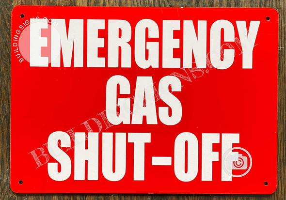 Emergency Gas Shut-Off Sign