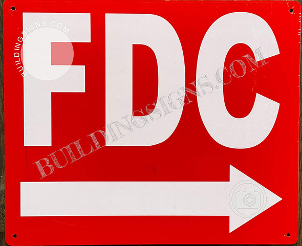 FDC Sign - FDC Right Arrow Sign