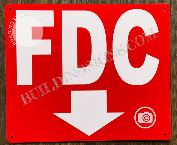 FDC Sign -FDC Arrow Down Sign