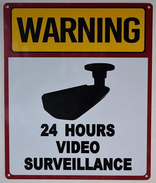 Warning 24 Hour Video Surveillance Sign