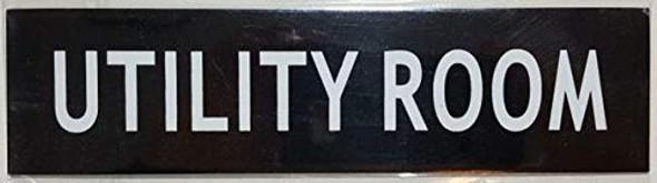 Utility Room Sign Black (2 X 7.75)