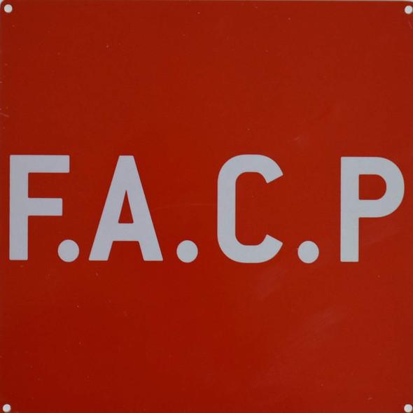 F.A.C.P Sign- FIRE Alarm Control Panel Sign