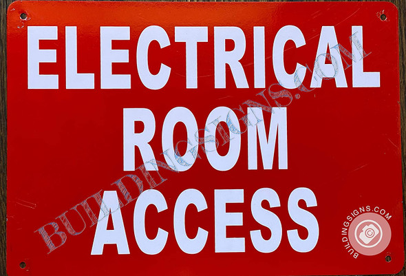 Electrical Room Access Sign