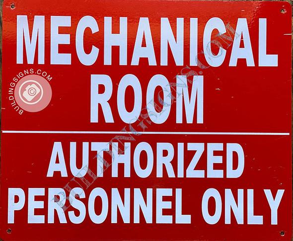 Mechanical Room Sign