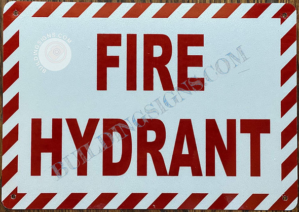 FIRE Hydrant Sign (White,