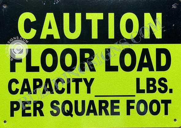 Caution Floor Load Capacity Sign