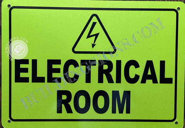 Electrical Room Sign (Reflective,