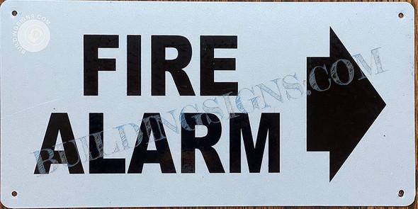 FIRE Alarm Sign Arrow