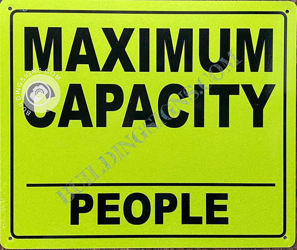 Maximum Capacity_ People Sign