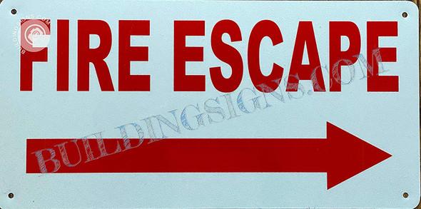 FIRE Escape Sign Right Arrow