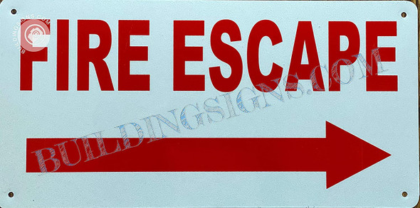 FIRE Escape  Right Arrow Singange