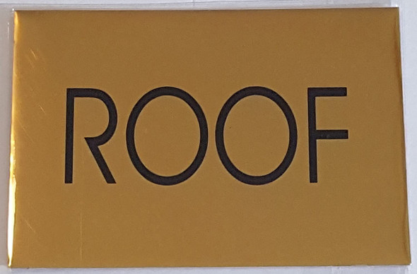 ROOF SIGN - Gold