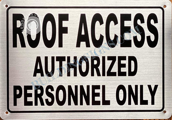 ROOF Access Authorized Personnel