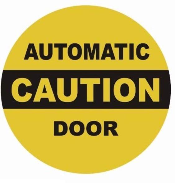 Caution Automatic Door Sticker Singange