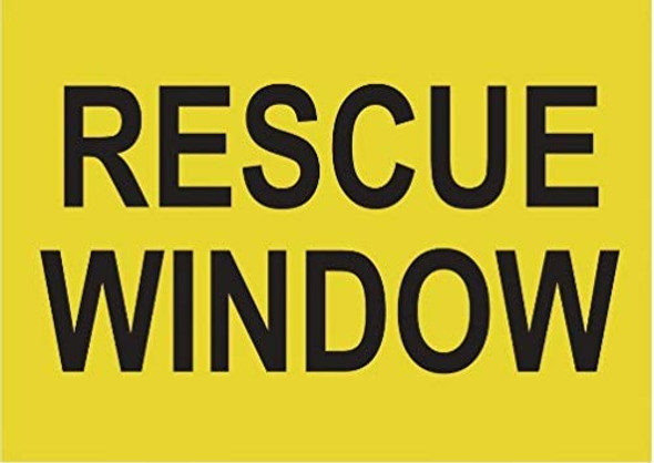 Rescue Window Label Decal Sticker Sign