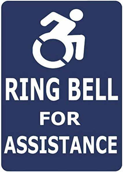 Ring Bell for ASSITANCE Decal Sticker Sign