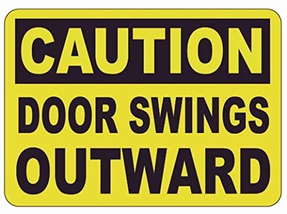 Caution Door Wings Outward Label Decal Sticker  Singange