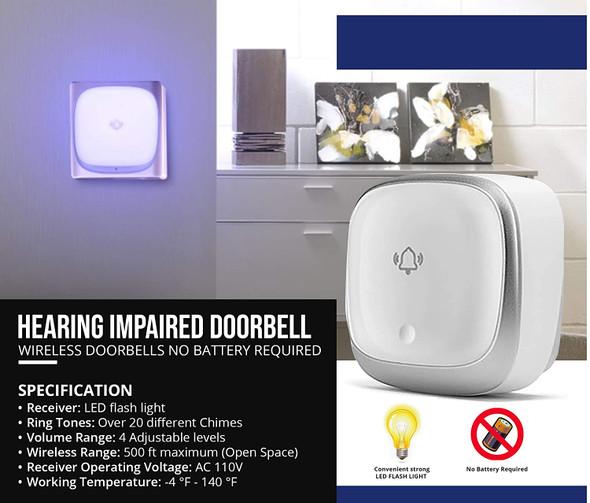 Hearing Impaired DOORBELL-Flashing Light Singange