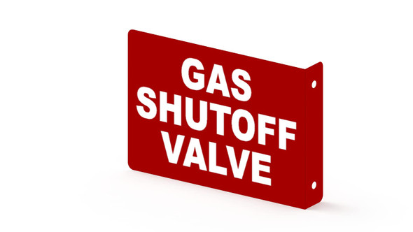 Gas Shut Off Valve Projection Sign- Gas Shut Off Valve 3D Sign