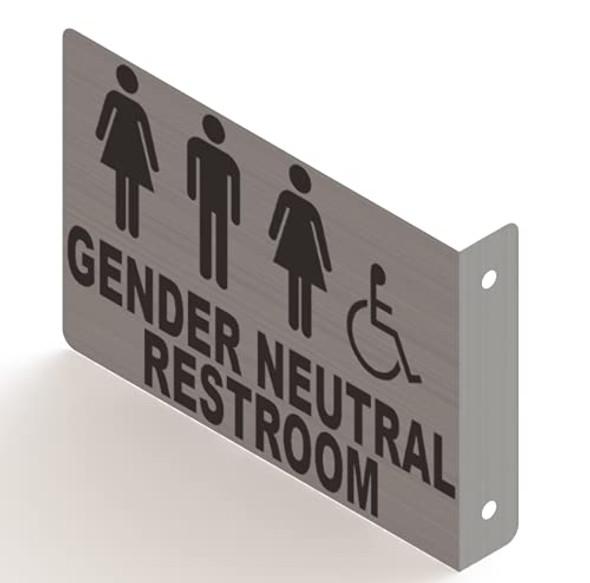 Gender Neutral Restroom Projection Sign- Gender Neutral Restroom 3D Sign