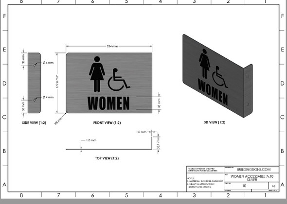 Women ACCESSABLE Restroom Projection - Women ACCESSABLE Restroom 3D  Singange