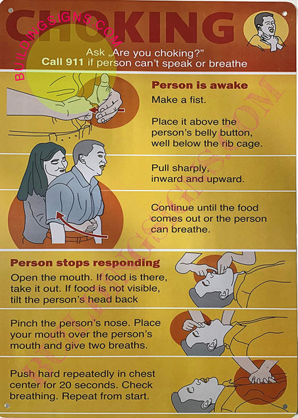 WHAT TO DO IN CASE OF CHOKING SIGNS