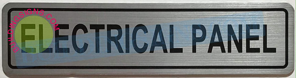 Electrical Panel Sign (Brushed Aluminum-HEAVY Duty !!!)