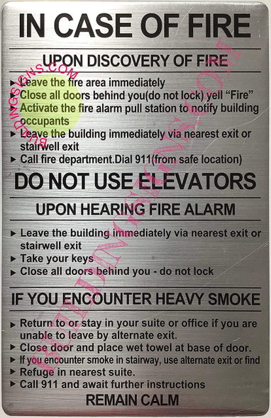 Door fire Notice Sign/Hotel fire Door Sign, School fire Door Sign