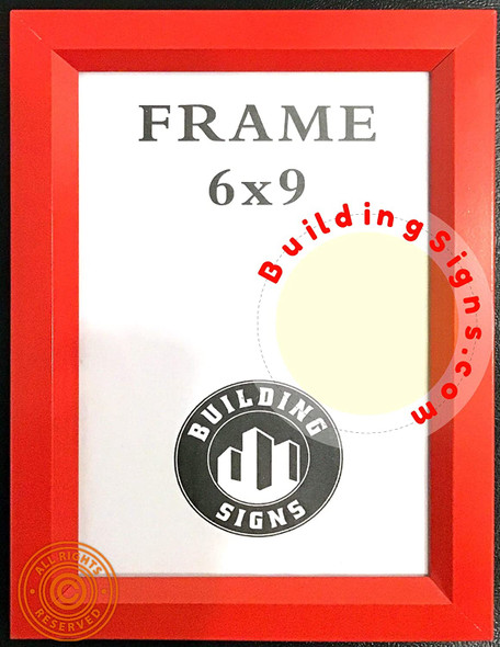 RED FIRE Department Inspection Frame