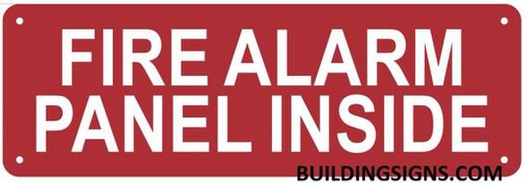 FIRE Alarm Panel Inside Sign (, Aluminum, )
