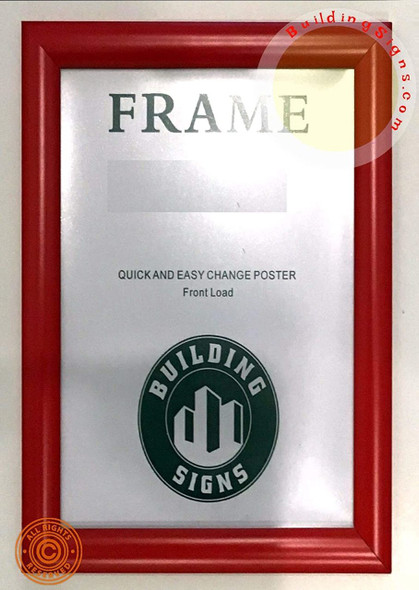 Front Load Snap Poster Frame 8.5x14 /Picture Frame
