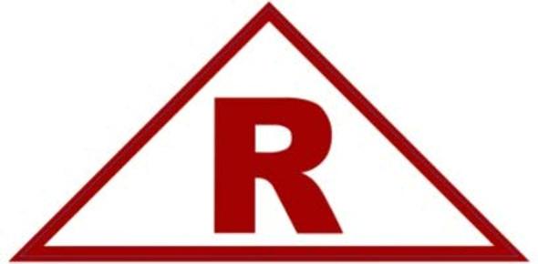 State Truss Construction Sign-R Triangular ( Sticker)