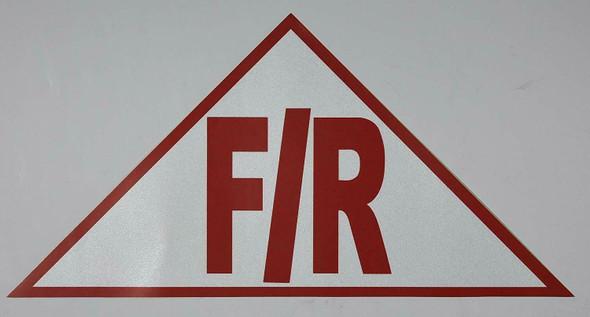State Truss Construction Sign F/R Triangular ( Sticker)