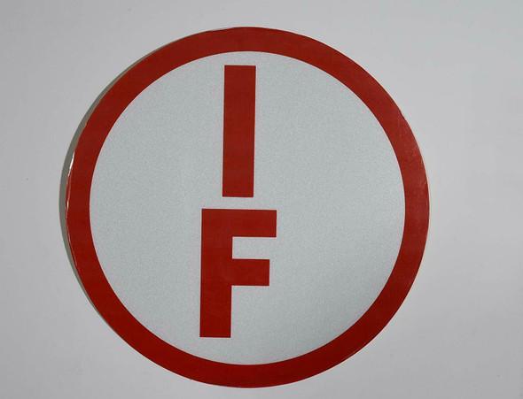 I-F Floor Truss Circular Sign ( Sticker)