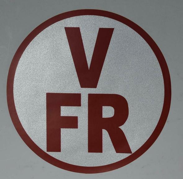 V-FR Floor Truss Circular Sign ( Sticker)