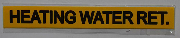 Pipe Marking- Heating Water RET (Sticker Yellow)
