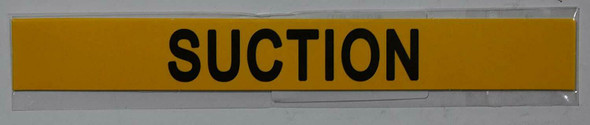 Set of 5 PCS - Pipe Marking- Suction Sign