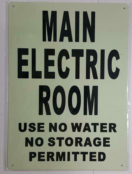 MAIN ELECTRIC ROOM SIGN GLOW IN THE DARK