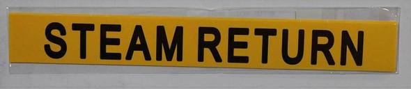 Pipe Marking- STEAM Return Sign (Sticker Yellow)