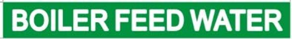 Pipe Marking- Boiler Feed Water (Sticker Green)