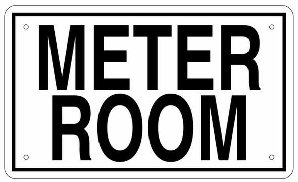 METER ROOM SIGN (White Aluminium rust free)