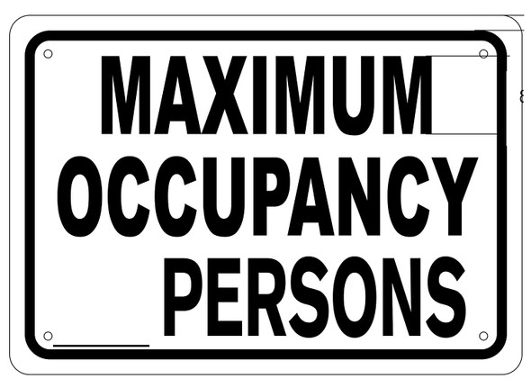Maximum Occupancy sign