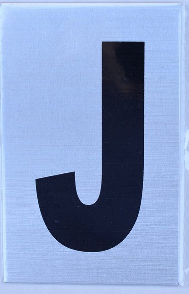 Apartment Number Sign - Letter J
