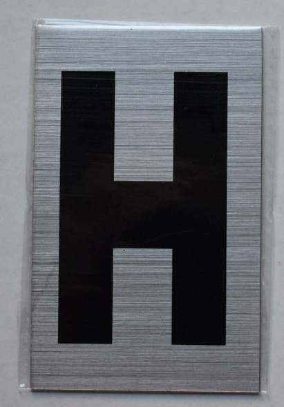 Apartment Number Sign - Letter H
